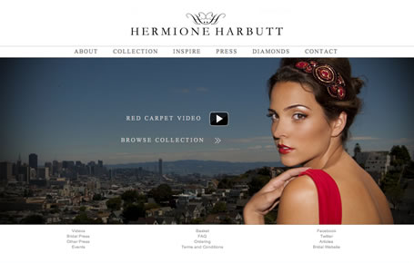 Web design example Hermione Harbutt
