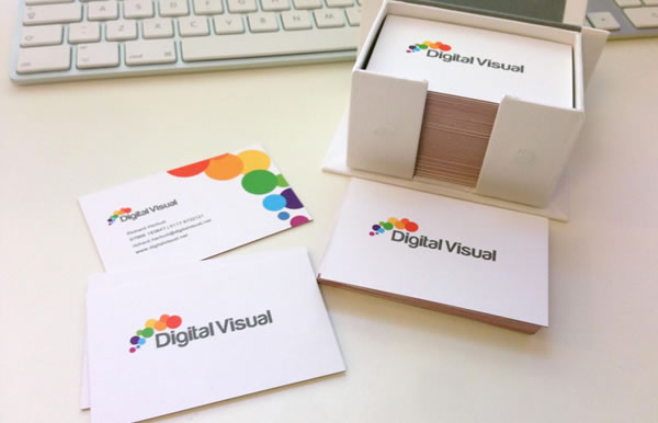 Digital Visual Web Design Business Cards
